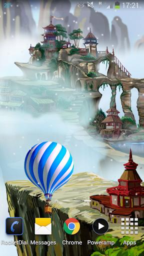 Flying World Live Wallpaper 1 تصوير الشاشة