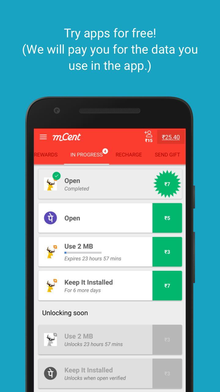 mCent - Free Mobile Recharge 2 تصوير الشاشة