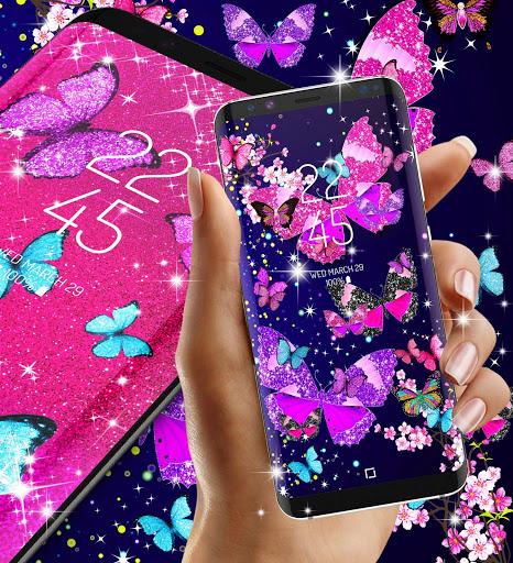 Glitter butterfly live wallpaper 7 تصوير الشاشة
