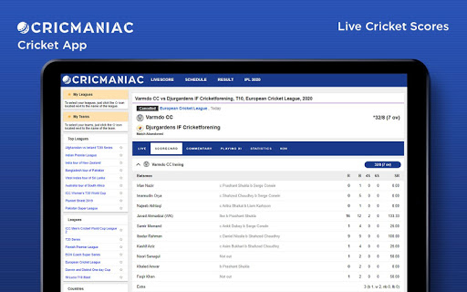 CricManiac - Live Cricket Scores screenshot 8