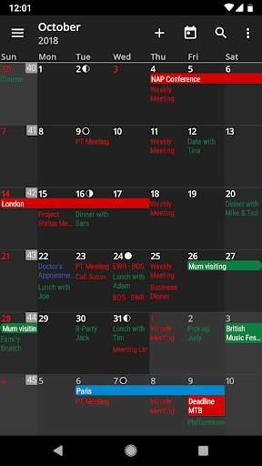 aCalendar - a calendar app for Android screenshot 3