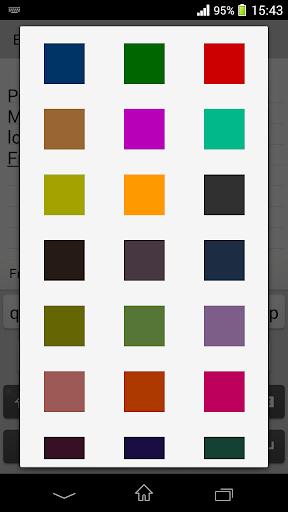 اللون ملاحظات 3 تصوير الشاشة