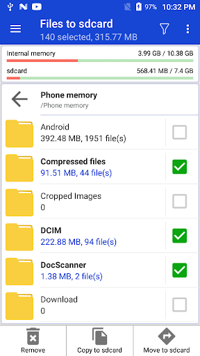 Files to sdcard - Move files and apps to sd card screenshot 6