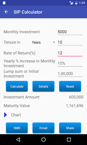 SIP Calculator screenshot 2