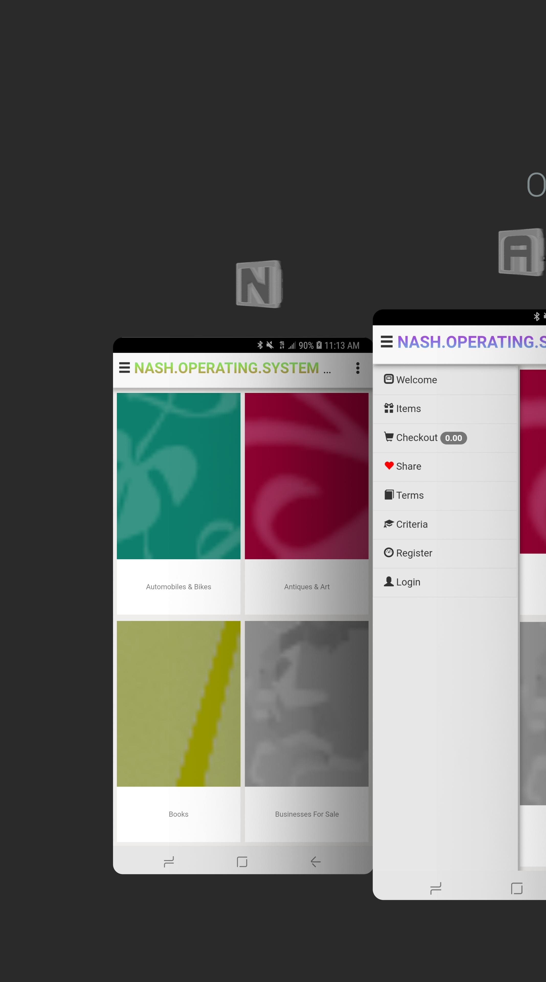 NASH OS APP (MOBILE DEMO) screenshot 1