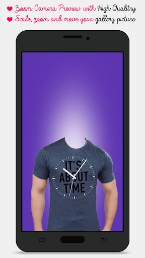 Man T-shirt Photo Maker screenshot 1