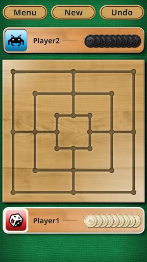 Nine men's Morris - Mills - Free online board game 5 تصوير الشاشة