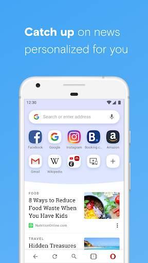 Opera browser with free VPN screenshot 2