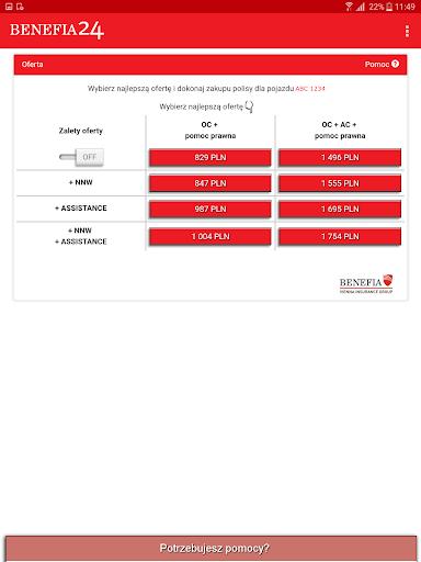 Ubezpieczenie OC AC Benefia 24 screenshot 14