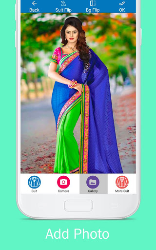 Woman Fancy Saree Photo Suit Editor 2 تصوير الشاشة