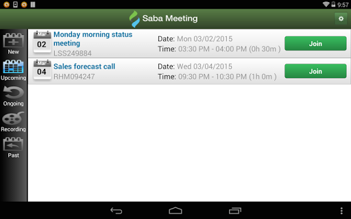Saba Meeting screenshot 7