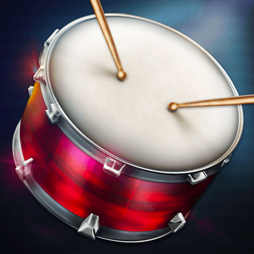 Drums: real drum set music games to play and learn أيقونة