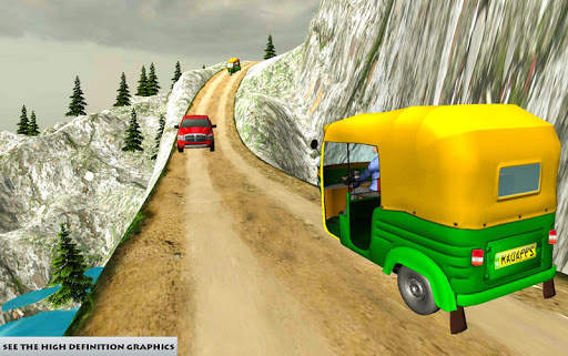 Mountain Auto Tuk Tuk Rickshaw : New Games 2020 screenshot 3