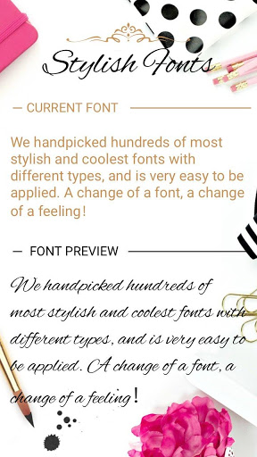 Stylish Font for FlipFont , Cool Fonts Text Free screenshot 1