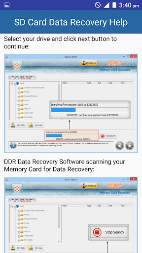 SD Card Data Recovery Help screenshot 5