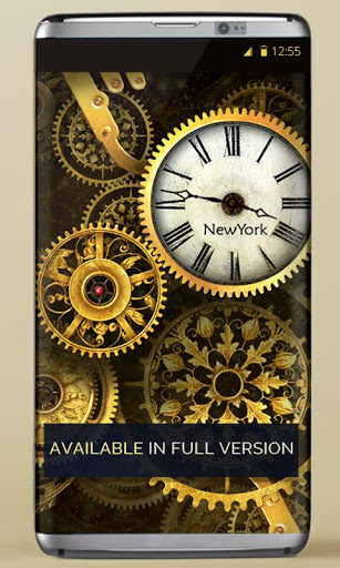FREE Gold Clock Live Wallpaper 5 تصوير الشاشة
