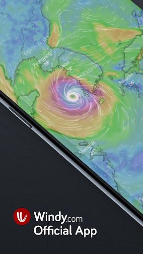 Windy.com: pronóstico de vientos, olas y huracanes screenshot 1