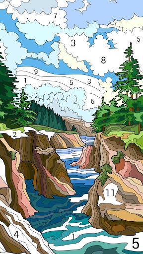 لوّن بالأرقام: كتاب تلوين صور جديد مجاناً 3 تصوير الشاشة