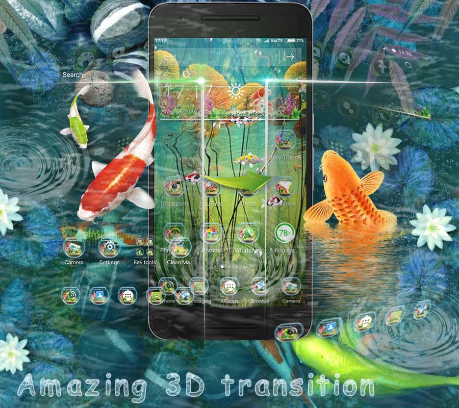 3D Koi Fish Launcher screenshot 7
