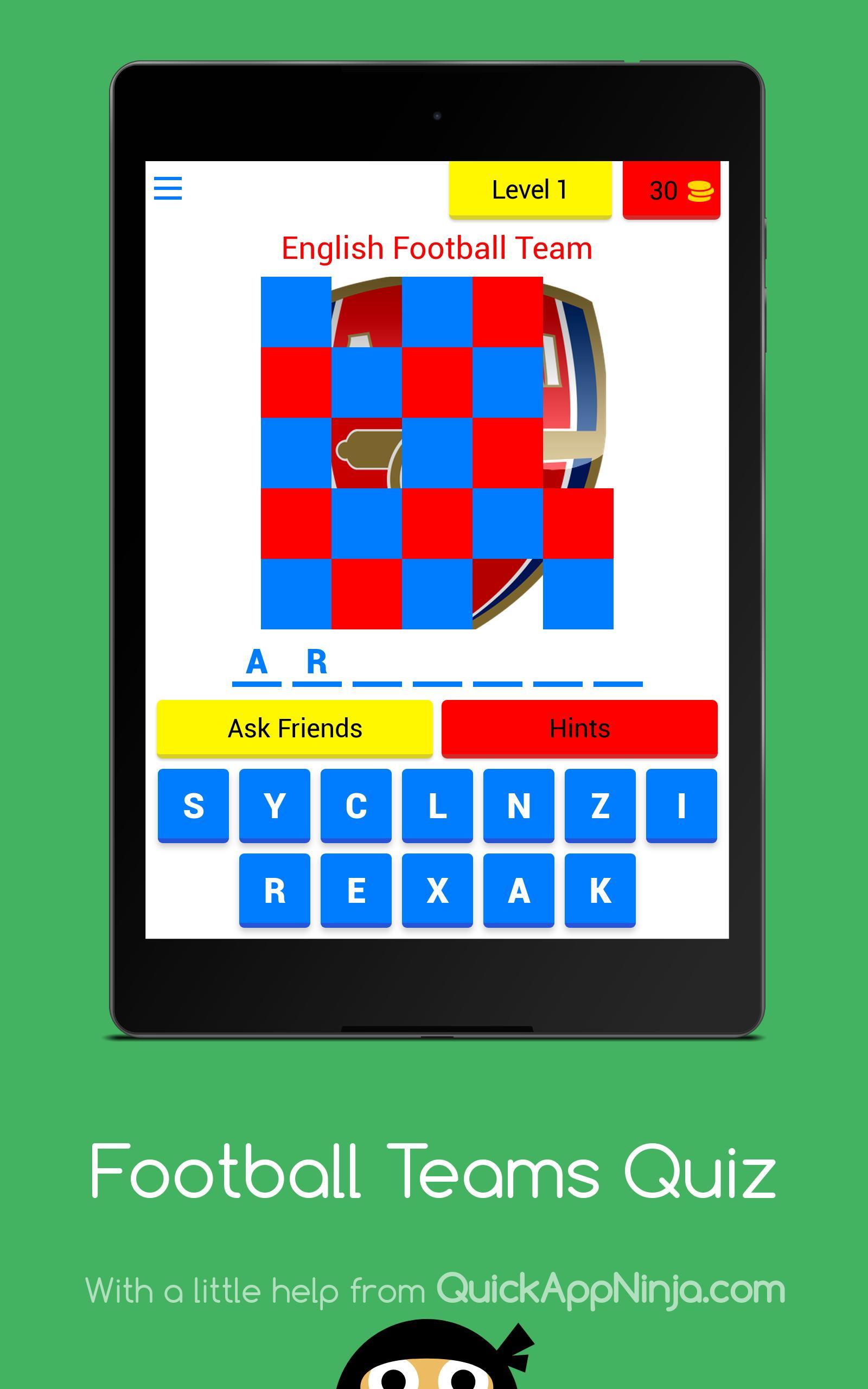 Football Teams Quiz 8 تصوير الشاشة
