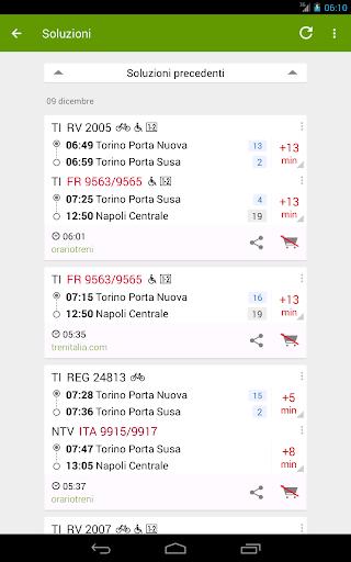 Train Timetable Italy 9 تصوير الشاشة