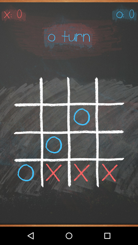 Tic Tac Toe on blackboard 5 تصوير الشاشة