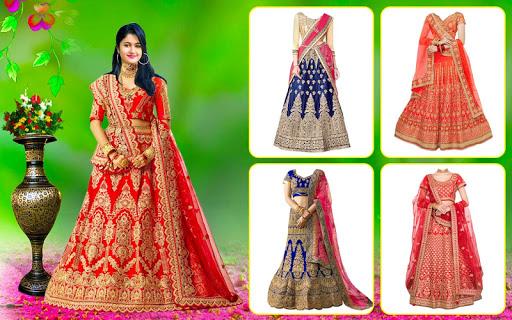 Bridal Lehenga, Lehenga Choli & Saree Photo Editor screenshot 1