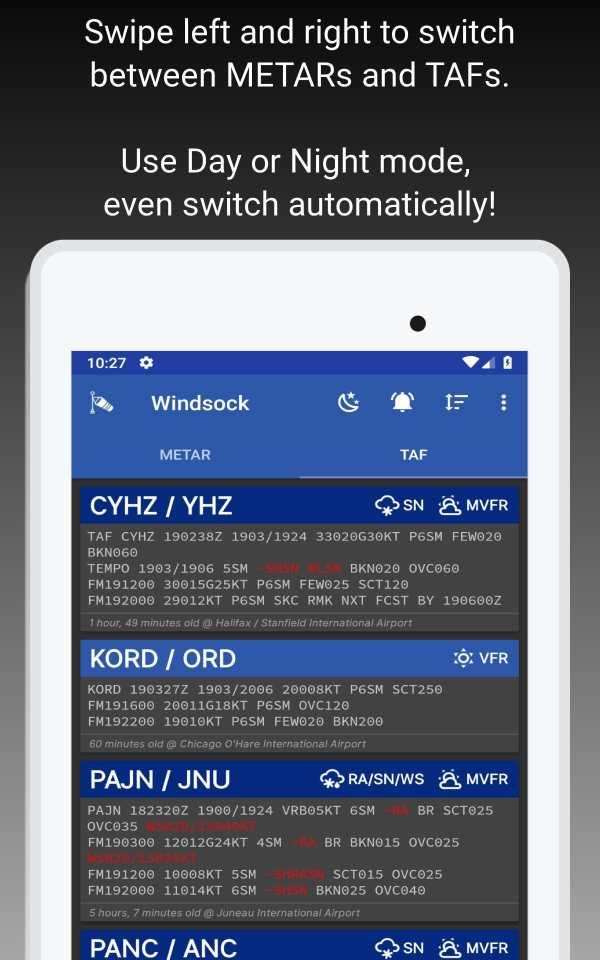 Windsock - Automatic METAR/TAF screenshot 14