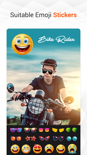 Man Bike Rider Photo Editor - photo frame screenshot 7