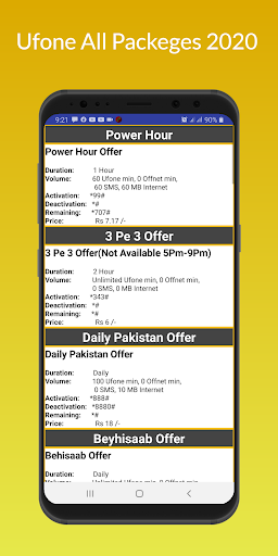 Ufone All Packeges 2020 Latest Updates screenshot 4