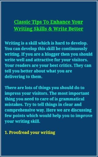 Writing Skills screenshot 13