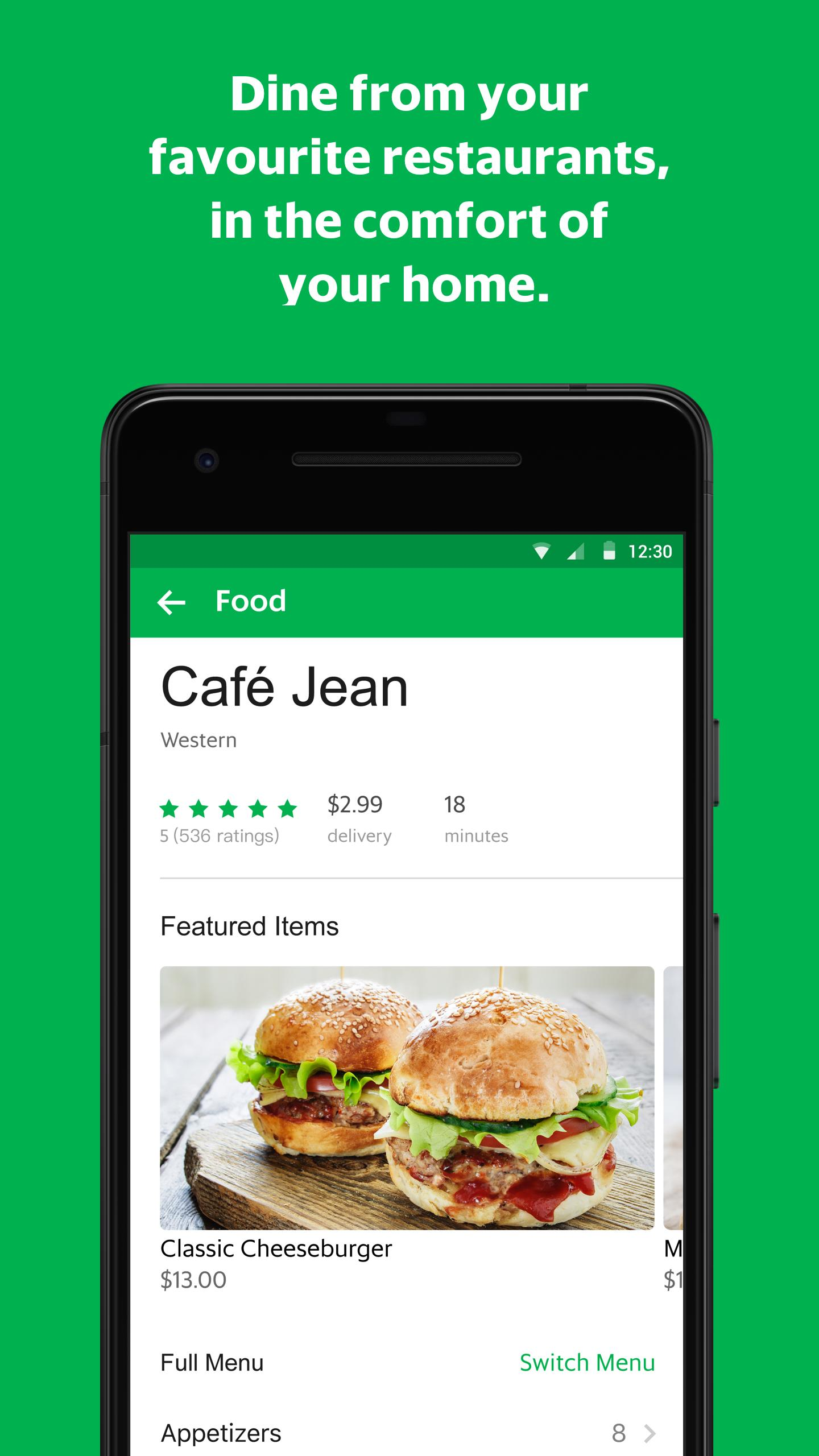 GrabFood - Food Delivery App скриншот 3