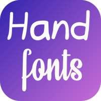 Hand Fonts for FlipFont with Font Resizer on APKTom