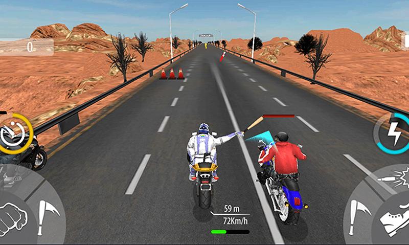 Bike Attack Race Highway Tricky Stunt Rider screenshot 5
