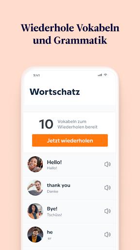 Babbel – Sprachen lernen – Englisch, Spanisch & Co screenshot 6