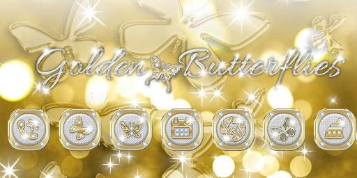 Butterflies Theme Gold Glitter Launcher screenshot 1
