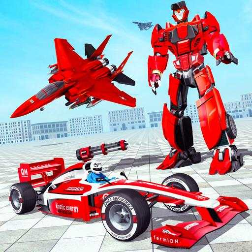 Formula Car Robot Games - Air Jet Robot Transform
