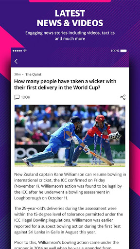 Yahoo Cricket App - Live Cricket Scores & News screenshot 8