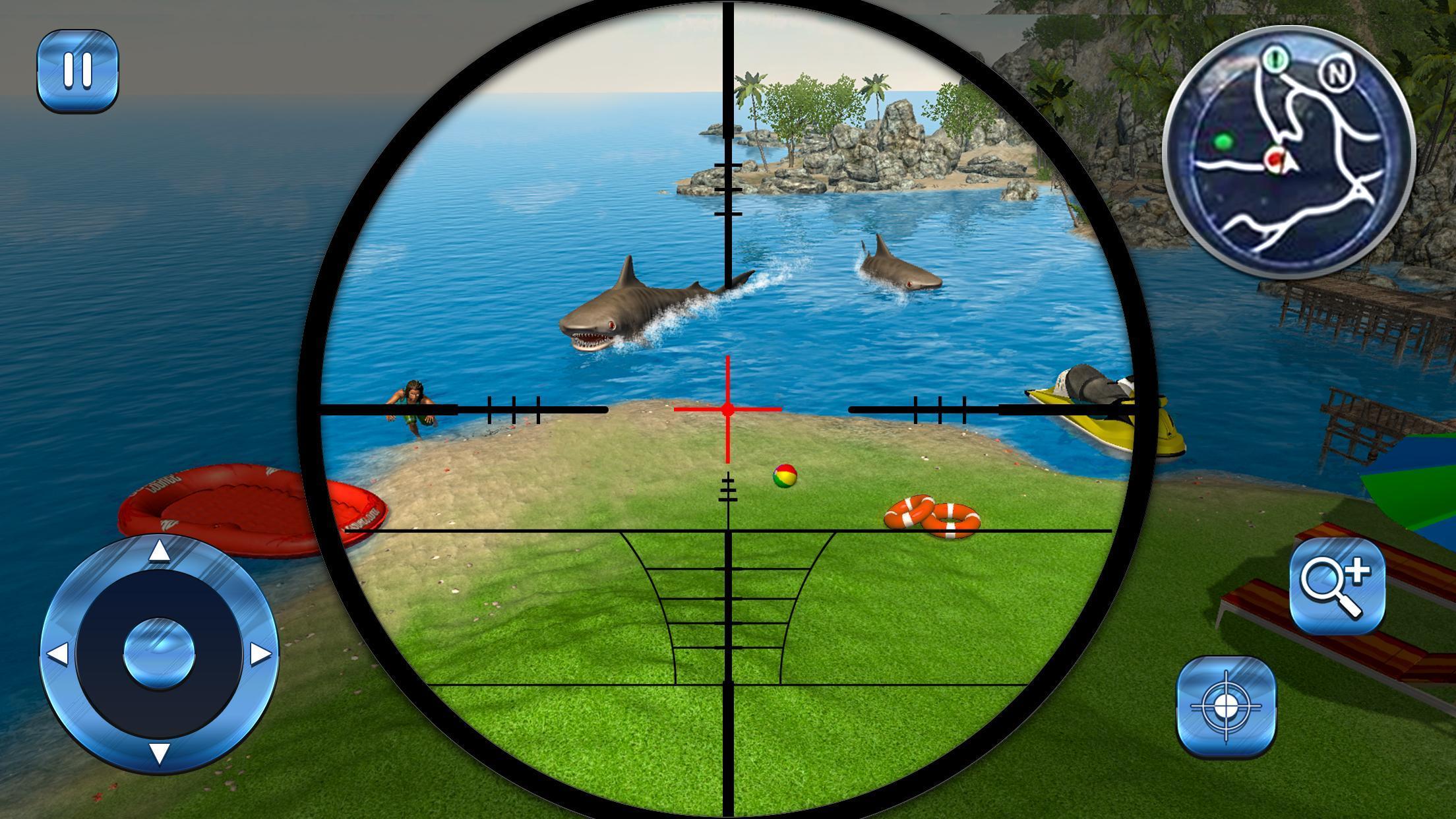 Tiger Shark Attack FPS Sniper Shooter 2 تصوير الشاشة