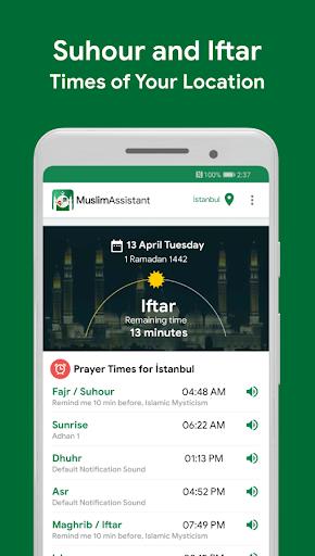 Muslim Assistant - Prayer Times, Azan, Qibla screenshot 1