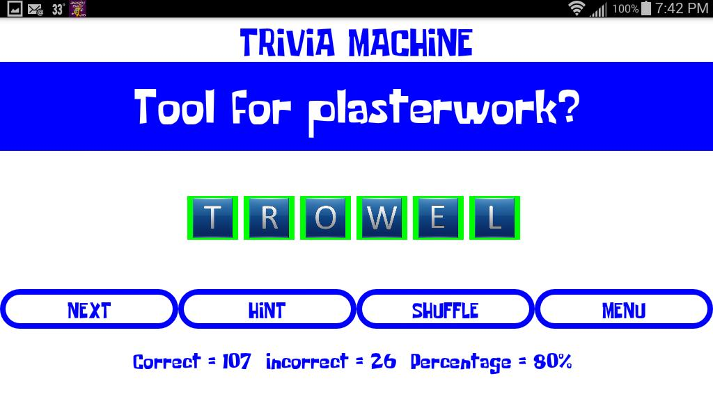 Trivia Machine screenshot 1