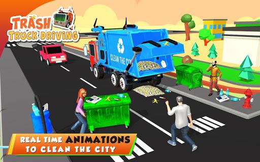 Urban Garbage Truck Driving - Waste Transporter screenshot 18