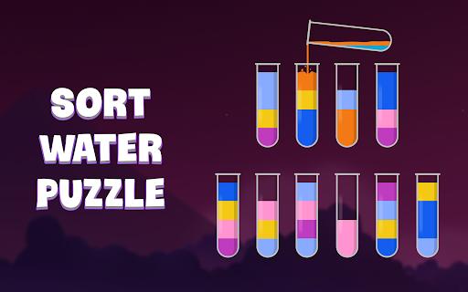 ソートウォーターパズル - 色分けゲーム screenshot 24