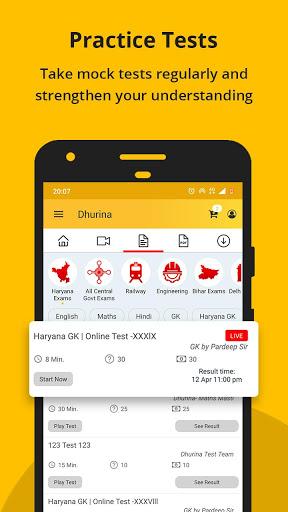 Dhurina - Live Classes, Online Test, eBooks, Notes screenshot 6