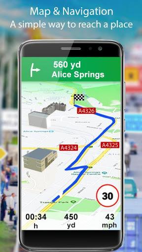 التجوّل الافتراضي المباشر وملاحةGPSوخرائطالأرض2021 1 تصوير الشاشة