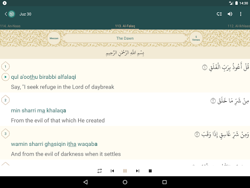 Quran English screenshot 11