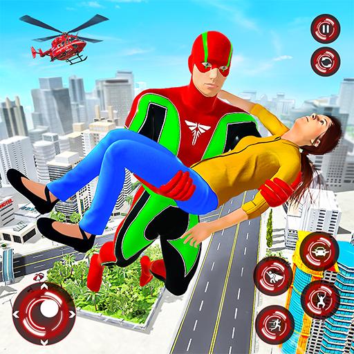 Superhero Light Robot Rescue: Speed Hero Games icon