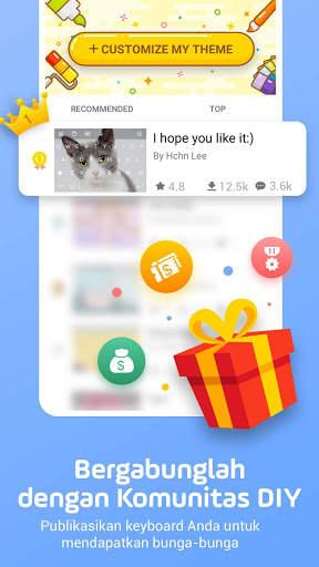 Facemoji Emoji Keyboard-Emoji Lucu,Stiker,Tema,GIF screenshot 9