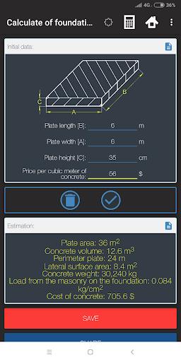 Construction Calculator - Materials Evaluation 3 تصوير الشاشة