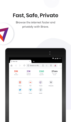 Brave Private Browser: Fast, secure web browser 6 تصوير الشاشة